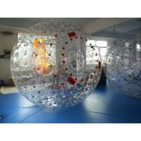 Red Dot 0.8mm PVC Inflatable Zorb Ball , Inflatable Human Hamster Ball 3m x 2m Dia