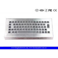 Quality Free Stand Desktop Stainless Steel Metal Keyboard for Industrial Using wholesale