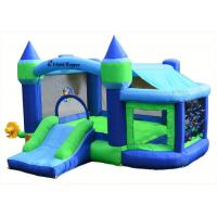Buy cheap Backyard Inflatable Bouncer Combo / 0.55mm PVC Bouncy Castle For Kids from wholesalers