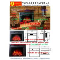 """23"""" insert electric fireplace heater or wall mounted fireplace RV fireplace F2325A flat panel log fuel real flame"""