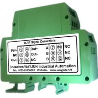 Buy cheap RTD PT100 temperature Signal to 4-20mA Isolators(one in one out) Green DIN35 WAYJUN 3000VDC isolation from wholesalers