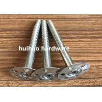 Quality Galvanized Steel Rock Wool Insulation Anchor pins With 35mm Round Washer Base for sale