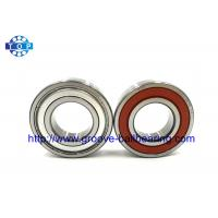 SAE51200 Steel 6203LU One Way Ball Bearing Rubber Seal With Locating Snap Ring