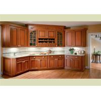 Buy cheap Beautiful Solid Wood Kitchen Cabinets Customized Classic Design From Foshan from wholesalers