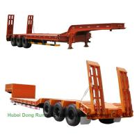 Buy cheap Gooseneck  Tri-axle Hydraulic Ladder Lowbed Semi Trailer Heavy Machine 60ton,80Ton from Wholesalers
