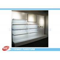Buy cheap Shop White MDF Wooden Display Racks / Shelf For Shoes , Wall Mount Display from wholesalers