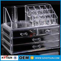 Buy cheap PS or Acryic Lipsticker holder, Acrylic makeup organizer with four drawer from Wholesalers