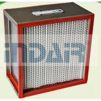 Buy cheap Heat Resistant High Flow HEPA Filter Stainless Steel Frame For Coating Industry from wholesalers