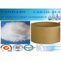 Buy cheap C8H8O3 Chemical Food Additives Slightly Yellow Vanillin Crystals CAS 121-33-5 from Wholesalers
