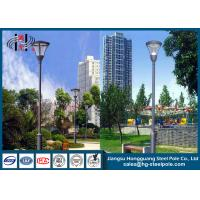 Quality Hot Roll Steel Q235 Powder Coated RAL Outdoor Street Lamp Post 6 - 12m wholesale