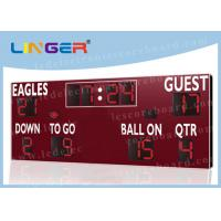 Quality American Type Electronice Digital LED Football Scoreboard in Red Color wholesale
