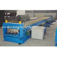 Buy cheap Color Steel Plate Floor Deck Roof Panel Roll Forming Machine 1500mm , PLC Control from Wholesalers