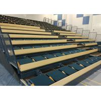 Buy cheap Smooth Running Retractable Auditorium Seating Soft Upholstery Sports Stadium Seats from Wholesalers