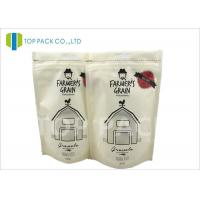 Quality Recyclable Printed Stand Up Bags , 500g Zipper Stand Up Food Matte Window wholesale