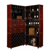 Buy cheap High End Europe Retro Vintage Leather  Wine Storage Cabinet With Multi function from wholesalers