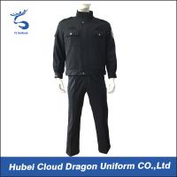 Buy cheap Durable Navy Twill Duty Security Guard Apparel , Police And Security Uniforms for Men from Wholesalers