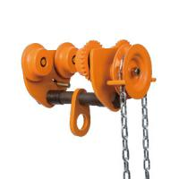 Buy cheap 10 ton Chain Fall Trolley Hand Plain Trolley With Chain for Hoist travelling from Wholesalers