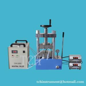 Buy cheap laboratory dual platens heating laboratory hot press machine upto 300C , 60T Hydraulic Lamination Hot Press from wholesalers
