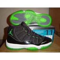 Buy cheap nike air jordan11 black with green button from Wholesalers