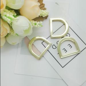 Buy cheap Fashion Handbag Rings Hardware , Metal Strap Loop Gold D Rings For Bags from Wholesalers