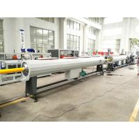 Buy cheap Plastic HDPE PP Water Gas Pipe Making Machine With PLC Controlling from Wholesalers
