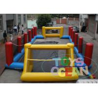 Buy cheap Yellow Inflatable Football Pitch Soccer Field  / Fun Interactive Party Games from Wholesalers