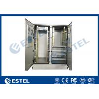 Buy cheap 30U Two Bay Outdoor Telecom Cabinet, for Commmunication Equipment, Rectifier, Battery, with Aircon Cooling from wholesalers