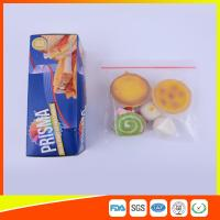 Buy cheap PE Transparent Plastic Snack Bags With Zipper , Reusable Snack And Sandwich Bags from Wholesalers