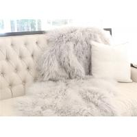 Hide Pelt Mongolian Sheepskin Rug Comfortable Warm For Sofa Throw Covers