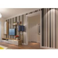 China Commercial Contemporary Wall Coverings with Wide and Narrow Stripes , PVC Wallpaper on sale