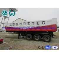 Buy cheap Mechanical 35T Q610 Shock Proof Tipper Semi Trailer  , 2 Axle Trailer from Wholesalers