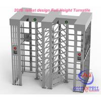 Buy cheap Two door access Prison Full Height turnstile security gates RFID card and Fingerprint Control from Wholesalers