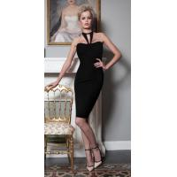 Quality Halter Black Backless Bandage Dress Sleeveless Knitted Technics wholesale