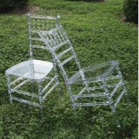 Buy cheap Clear Contract Chair / Polycarbonate Chair With Comfortable For Wedding Chair from wholesalers