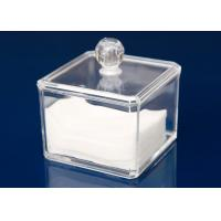 Buy cheap Transparent Plastic Display Stand Cube Box For Makeup With Lid from wholesalers