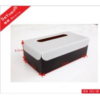 Buy cheap Car / Hotel  Acrylic Holder Stand , Acrylic Tissue Box In Black Color from wholesalers