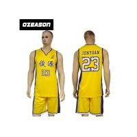 Buy cheap Polyester Dry Fit Sublimation Custom Latest Basketball Jersey Design from wholesalers