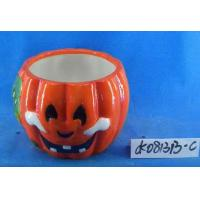 Buy cheap Pumpkin Small Ceramic Flower Pots Ghost Design 15 X 15 X 15 Cm For Halloween from Wholesalers