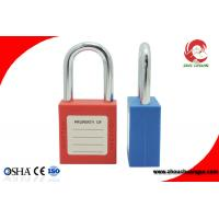 Buy cheap High Security Short Steel Shackle Insulation ABS Safety Lockout Padlock from wholesalers
