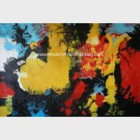 China Abstract Acrylic Painting The Fire / Contemporary Canvas Wall Art Framed On Canvas on sale