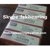 Automobile Gearbox SKF 63/28 Single Row ABEC 7 Bearings Steel Balls