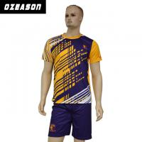 Buy cheap Custom Sublimated Anti-Shrink 100%Polyester Football Jersey for Adults & Kids from Wholesalers