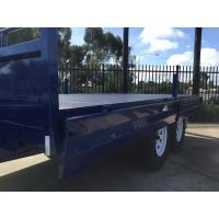 2000KG Tray Top 8 X 6 Tandem Trailer With Solid Axle / Lockable Plunger