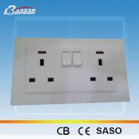 Buy cheap LK4057B 13A UK double switched socket from Wholesalers
