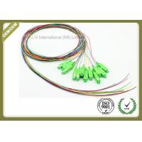 Buy cheap 12colors SC APC fiber optic pigtail 0.9mm diameter 1meter length from wholesalers