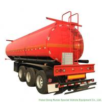 Tri Axle Stainless Steel Tank Semi Trailer For Palm Oil / Crude Fuel / Petrol Oil Delivery