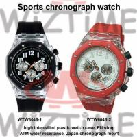 Men's High Intensified Plastic  Sports Chronograph Watch