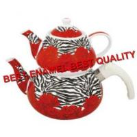 Buy cheap Porcelain Enamel Teapot from Wholesalers