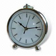 Buy cheap Metal Desk Clock, Measuring 19 x 16.7 x 5cm from Wholesalers