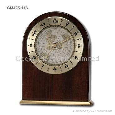 Quality Craft Desk World Time Clock for sale